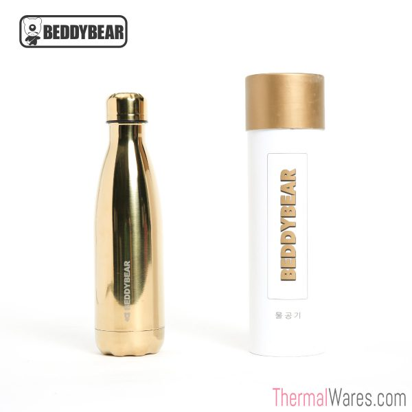 BeddyBear Vacuum Bottle Cola Shaped Series in Gold