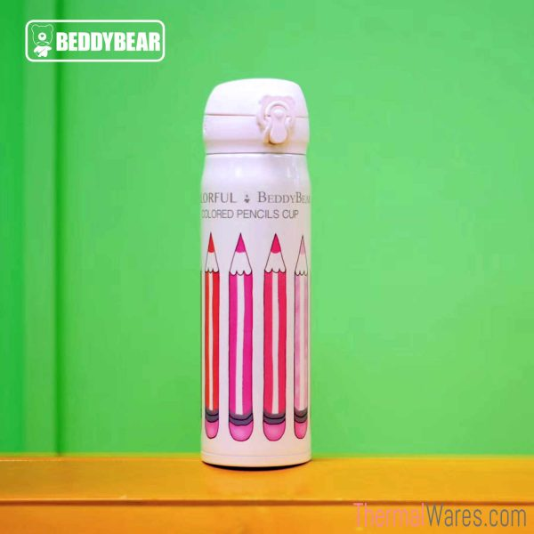 BeddyBear Vacuum Flask in Classic Prints Series Pencils Design