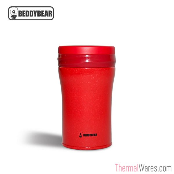 BeddyBear Vacuum Food Container in Red