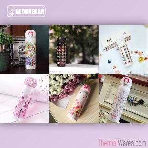 BeddyBear Vacuum Flasks Floral Prints Series