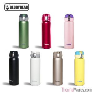 BeddyBear 16 oz Double Insulated Stainless Steel Water Bottle in various colors