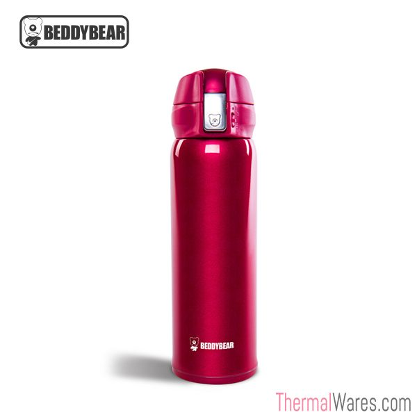BeddyBear Vacuum Flask in Radiant Red