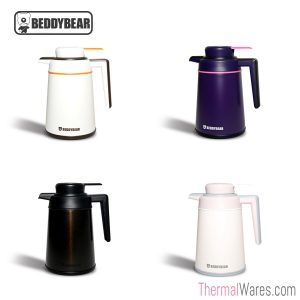 BeddyBear Insulated Water Jug in White, Purple, Black and Pink