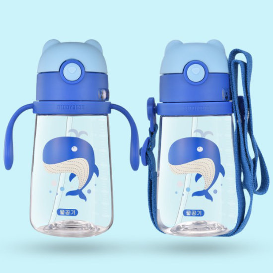 Dual Usage of BeddyBear Children Plastic Bottle Animal Series Whale Design