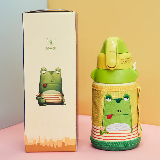 BeddyBear Children Vacuum Bottle Small Animal Series Frog Design with Packaging Box