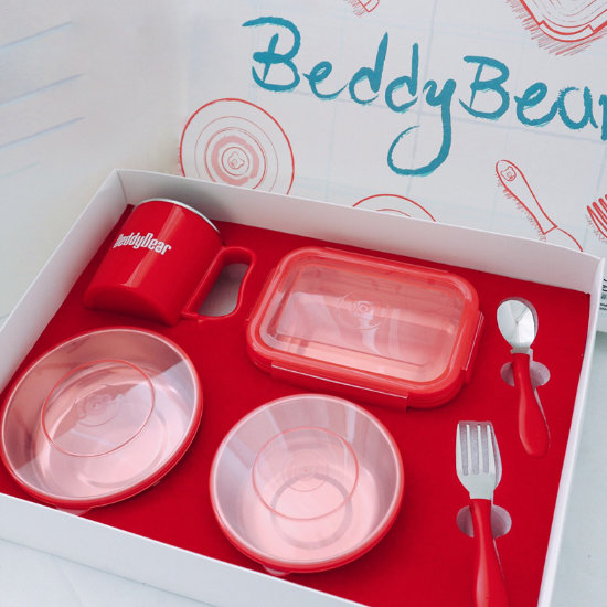 BeddyBear Dining Set Red Color in Packaging Box
