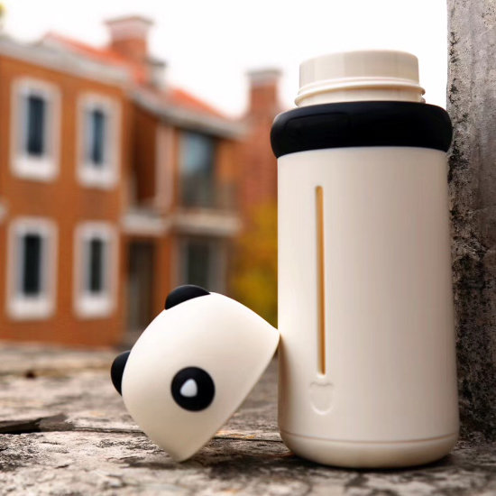 BeddyBear Double Walled Insulation Bottle Black Color with Cap off