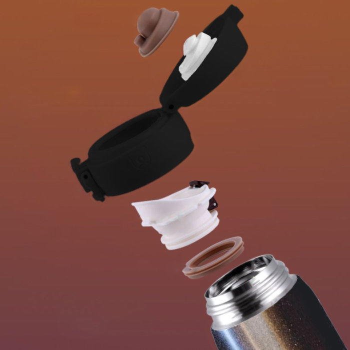 Detachable Flip Cap for BeddyBear Vacuum Flask Pure Color Series