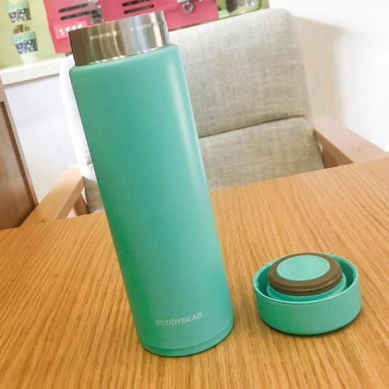 BeddyBear Vacuum Flask Mini Series Turquoise Color with Screw Cap off