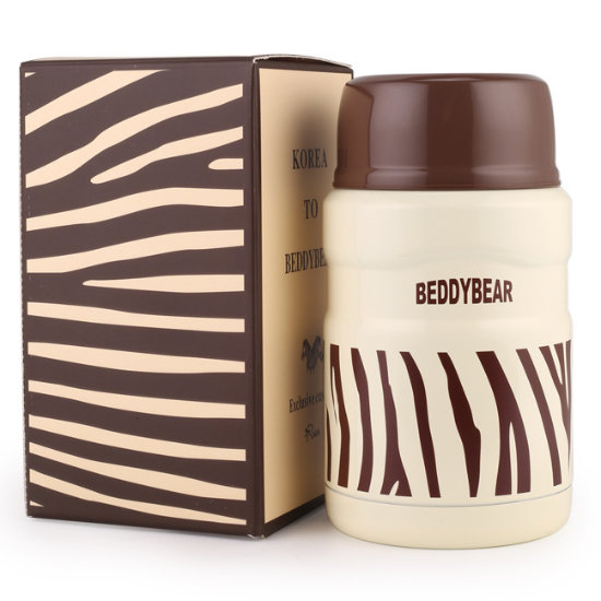 BeddyBear Vacuum Food Container Prints Series Zebra Design with Packaging Box