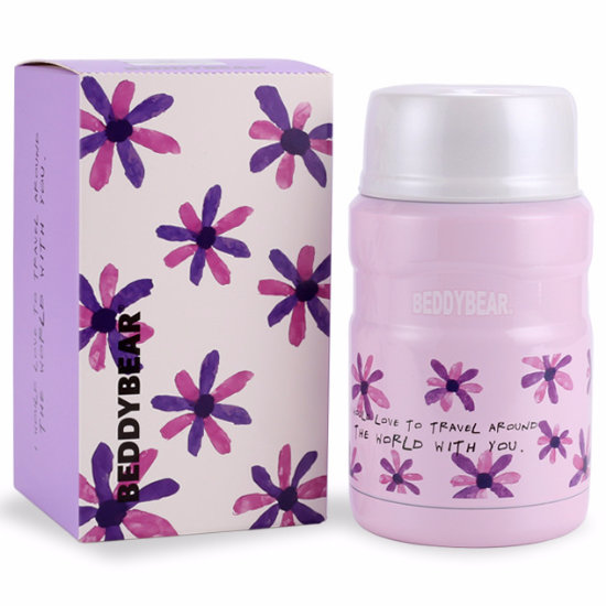 BeddyBear Vacuum Food Container Prints Series Flower Lavender Design with Packaging Box