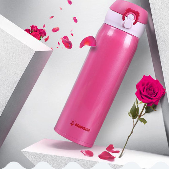 BeddyBear Vacuum Flask Pure Red Color
