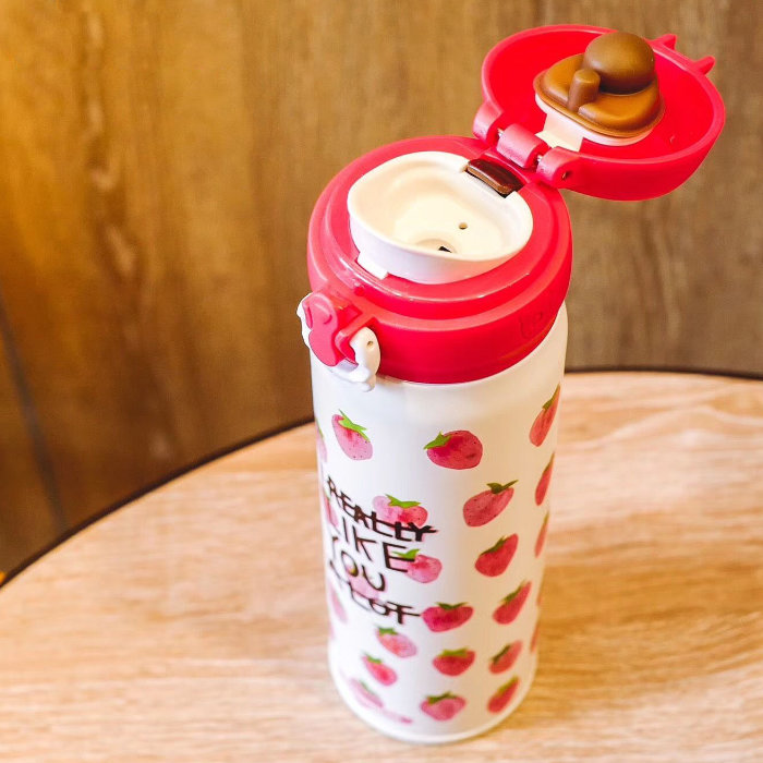Push Button Flip Cap for BeddyBear Vacuum Flask Classic Prints Series