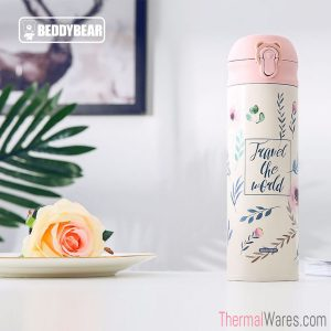 BeddyBear Vacuum Flask in Classic Prints Series Leaf Design