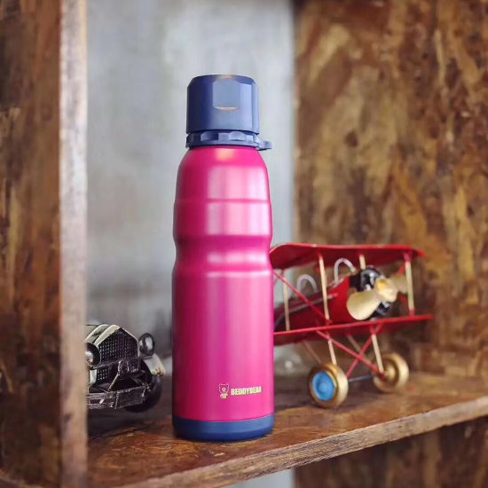 BeddyBear Sports Vacuum Bottle Red Color